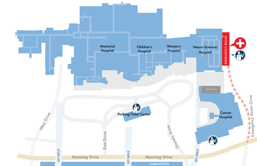 Map Of Unc Medical Center Chapel Hill Nc